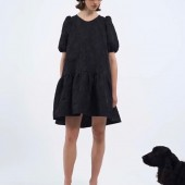 Black cotton brocade dress @milkwhiteofficial SS20' new collection #milkwhiteofficial #newcollection #fashionstyle #iger #fashionista #minidresses #blackdress #instaboutique #clairesclosetretroboutique