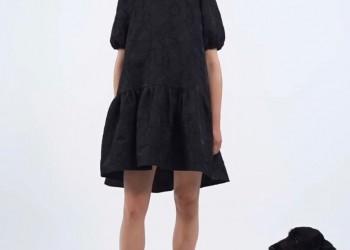 Black cotton brocade dress @milkwhiteofficial SS20' new collection